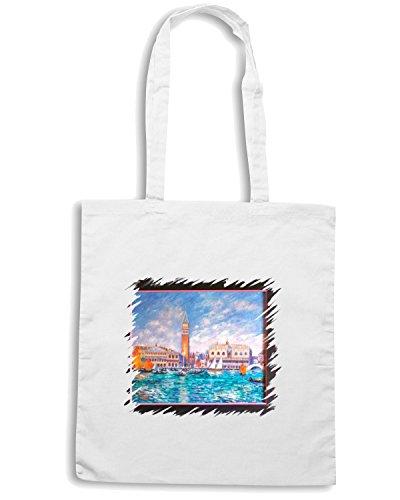 T-Shirtshock - Borsa Shopping TDA0043 renoir165 venezia palazzo ducale Bianco