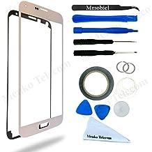 Kit de Reemplazo de Pantalla Táctil para Samsung Galaxy S5 SM G900 Blanco. Incluye Pinzas / Cinta adhesiva 2 mm / Kit de Herramientas / Limpiador de Microfibra / Alambre Metálico / Manual de Instrucciones MMOBIEL