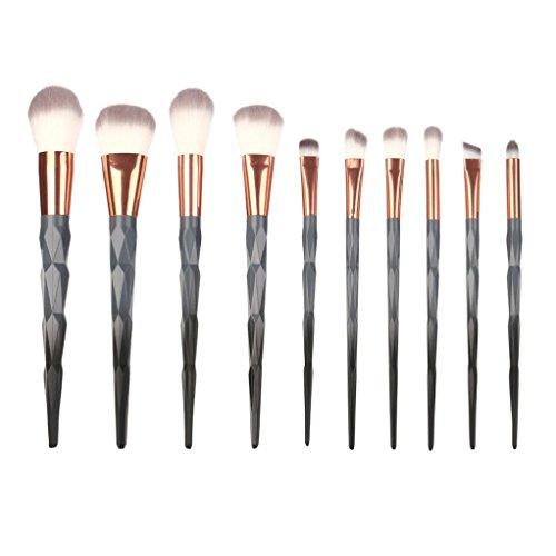 TPulling 10 Make-up Pinsel Setzt Pinsel Kosmetische Concealer Bürsten Foundation Eyebrow Eyeliner Spezielle Design Lidschatten Make-up Pinsel Setzt Pinsel (Grau)