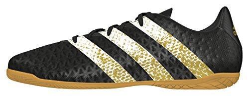 adidas Herren Ace 16.4 in Fußballschuhe Schwarz (Core Black/Ftwr White/Gold Met.)