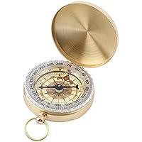 Preisvergleich für Swiftswan Messing Taschenuhr Stil Outdoor Camping Wandern Kompass Navigation Schlüsselbund