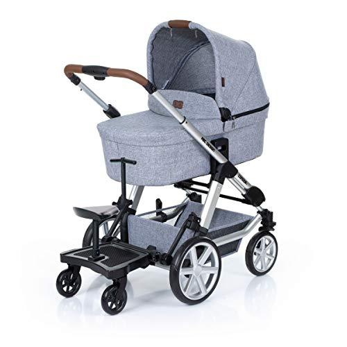 *ABC Design Trittbrett Kiddie Ride On 2 | ABC Design Mitfahrbrett schwarz | universal passend für gängige Kinderwägen & Buggies | Rollbrett für Kinderwagen Buggy bis 20 kg*