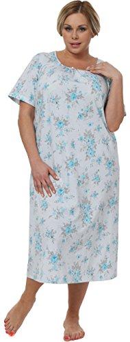 Italian Fashion IF Camicia da notte per donna Faustyna 0114 Turchese