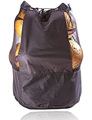 Mesh Equipment Bag Hight Quality Durable Adjustable Sliding Drawstring Cord Closure,Extra Large Heavy Duty Jumbo Size with Shoulder Strap For Basketball,Volleyball,Football
