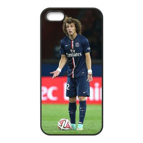 David Luiz coque iPhone 4 4S Housse téléphone Noir de couverture de cas coque EBDXJKNBO13276