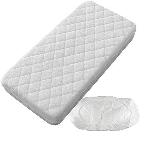 PEKITAS Protector Colchón/Cubre colchón Impermeable Acolchado - Minicuna 50 X 80 cm Fabricado En España