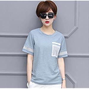 SLR Pure Farbe Kurzarm-T-Shirt Frauen Sommer lose Hohlen dünnen großen Shirt T-Shirt aus Reiner Baumwolle T-Shirt