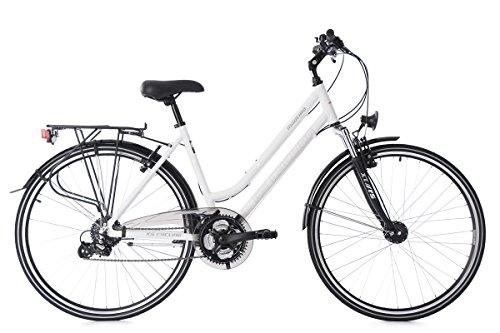 KS Cycling Damen Trekkingrad 28'' Madeira RH 48 cm Fahrrad, weiß