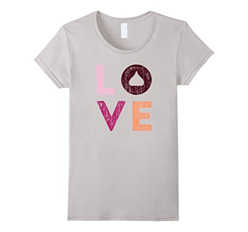hersheys-kisses-love-t-shirt-classic-look-28003-damen-grosse-xl-silber