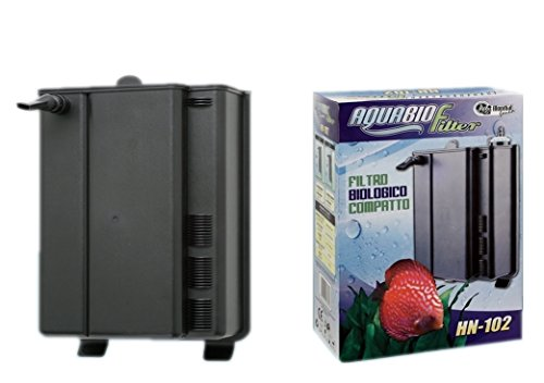 Box filtro AquaBio Filter HN-102 - Filtro biologico interno, completo di pompa e materiale filtrante
