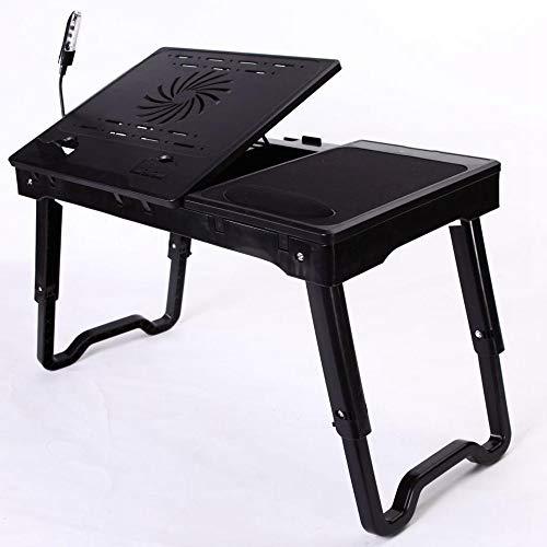 Shisky Laptoptisch,Faltbare Laptop Desk USB kühlende faul Tabelle multifunktionale Kunststoff 53 *...