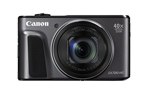 Canon PowerShot SX720 HS (Black) with 8 GB card and camera bag