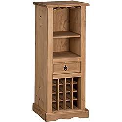 Mercers Furniture Rack - Botellero de madera, 135 x 56 x 36 cm, color marrón