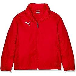 Puma Liga Training Rain Core Jr Chaqueta, Niños, Rojo Red White, 164