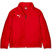 Puma Liga Training Rain Core Jr Chaqueta, Niños, Rojo Red White, 164