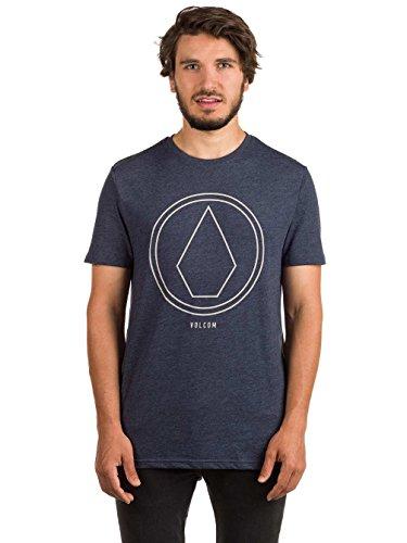 Herren T-Shirt Volcom Pinline Stone Hth T-Shirt Indigo