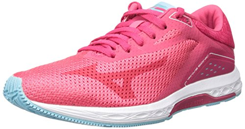 Mizuno Women's Wave Sonic Running-Shoes, Paradise Pink/Virtual Pink/Blue Topaz, 9 B US