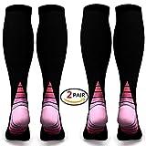 Chaussettes de compression/bas pour hommes et femmes (2 paires)