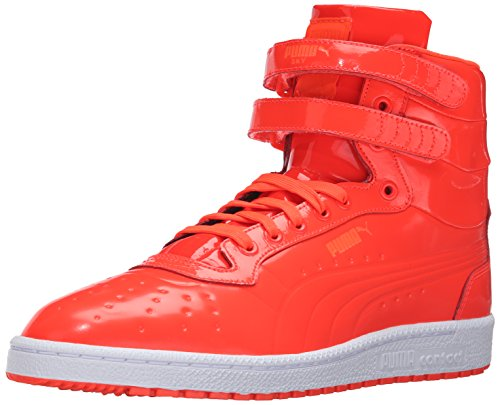 Puma Sky II Hi Patent Emboss Synthétique Baskets Red Blast