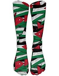 cleaer Jordan Flag Wave Collage Compression Socks Soccer Socks High Socks Long Socks 60cm(23.6