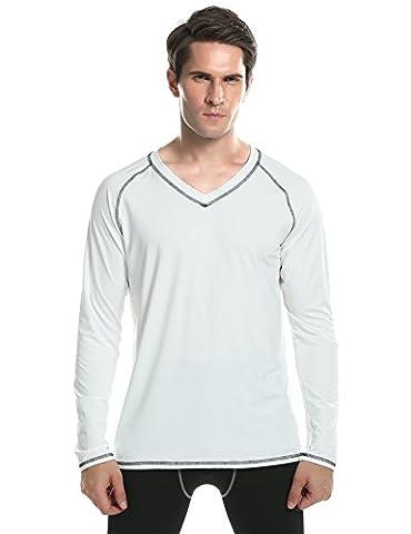 Ekouaer Mens Longsleeve Rashguard - Slim Fit Performance Sports Casual Long Sleeve UPF 50+ Sun Protective Shirts for