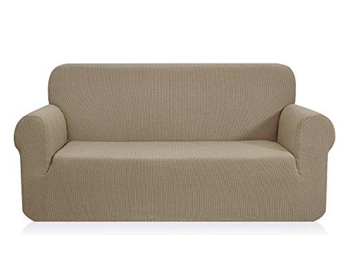 CHUN YI 1-Stück Jacquard Sofaüberzug, Sofahusse, Sofabezug für Sofa, mehrere Farben (2er, Sand)