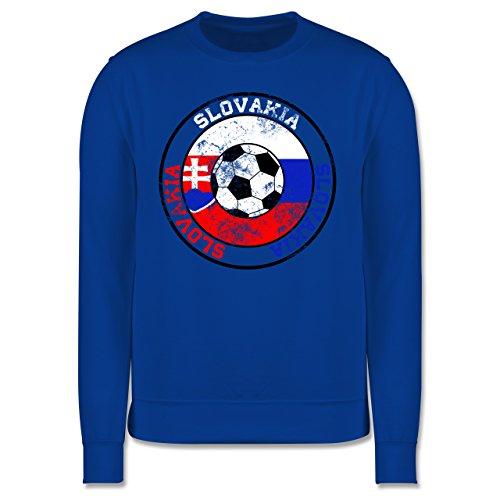 EM 2016 - Frankreich - Slovakia Kreis & Fußball Vintage - Herren Premium  Pullover Royalblau