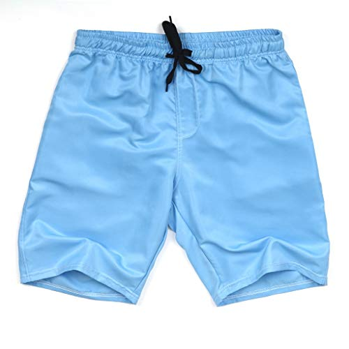 Xmiral Shorts Herren Badehose Einfarbig Lässig Sportlich Groß Strand Kurze Hosen Boxing Shorts Sweatshorts Sportshorts Chino-Hose(Himmelblau,6XL)