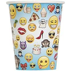 Partygram Emoji 8 Vasos De Cartón Motivo Emojis-Capacidad: 270 ML, (Partugram 50605)