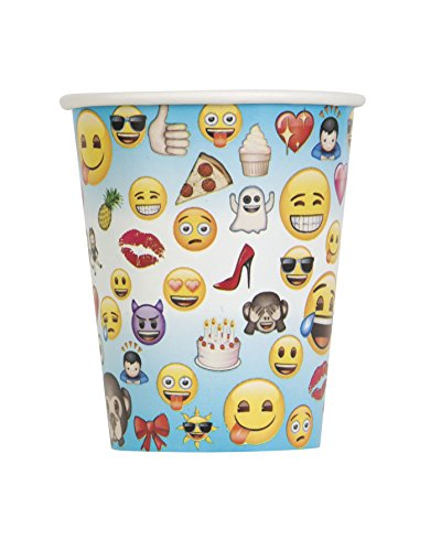 Unique Party 50602  Ft Kunststoff Emoji-Tischdecke , 8er-pack