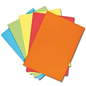 A4 Coloured Paper (80gsm) 60 sheets Value Pack (Assorted Colours)