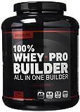 Bodyraise 100% Whey Pro Builder 1814g - Concentrato di isolato di proteine in polvere - Delizioso gusto cioccolato - 35 g di proteine del siero di latte (whey) per dose - Extra BCAA, creatina, glutammina e più di 17 diverse vitamine e minerali - Potenzia crescita muscolare, forza ed energia - 36 dosi!