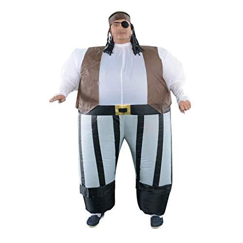 OLLVU Erwachsene Halloween Pirat Aufblasbare Cosplay Piraten Spiel Kostüm Lustige Bar Mall Leistung Phantasie Ball Party Event Eltern-Kind Requisiten Anzug (Color : Multi-Colored, Size : - Ballerina Pirat Kind Kostüm