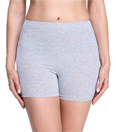 Merry Style Damen Shorts Radlerhose Unterhose Hotpants Kurze Hose Boxershorts MS10-283 (Melange (Shorts), 38 (Herstellergröße: M))