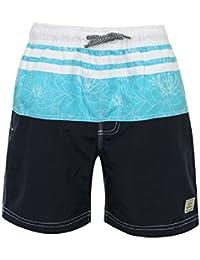 Mens Tokyo Laundry Ellenboro Floral Print Striped Swim Shorts