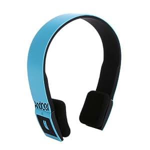 Timetop 2.4G sans fil BH-02 Bluetooth V3.0 + EDR casque mains libres casque avec micro pour iPhone5/5C/4S/4, iPad / iPad Mini, smartphone, HTC, Lenovo, Samsung Galaxy S4/S3, Google Nexus Tablet PC , multi-couleur (blanc) (bleu)