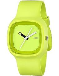 Alessi AL10011 - Reloj analógico automático unisex, correa de plástico color verde