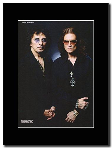Black Sabbath-Tony Iommi & Glenn Hughes Magazine Promo su un supporto, colore: nero