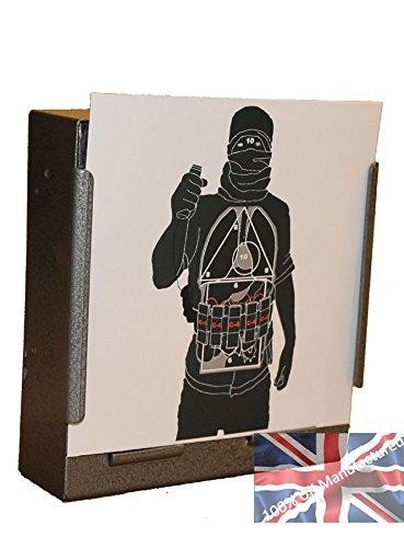 Zielscheiben Polizei-Training, Motiv: Selbstmord-Attentäter, für Luftgewehre, Pistolen, 100 x 14cm