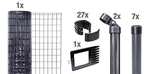 gah alberts set zaun maschendrahtzaun set fix clip 80 cm baumarkt. Black Bedroom Furniture Sets. Home Design Ideas