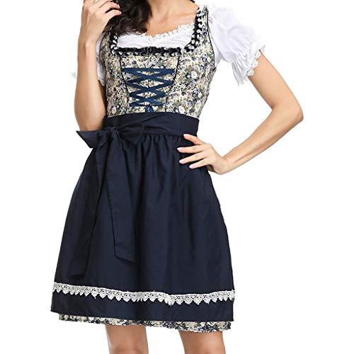 Yaohxu Bluse Kleid,Frauen Kleid Sexy Dessous Beer Festival Kleid Maid's Kleidung Cosplay Kostüme,Kostüme für Erwachsene,Schwarz,XL