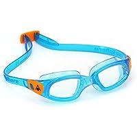 Aqua Sphere Kinder Kameleon Clear Lens Schwimmbrille, Clear Lens/Aqua/Orange, Nicht zutreffend
