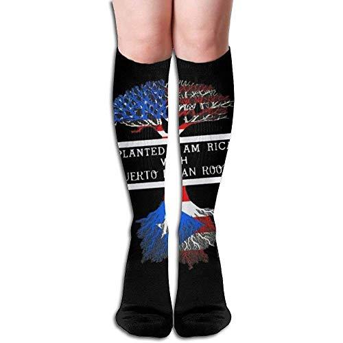 Design Puerto Riccan Roots Unisex Full Socks Long Socks Knee High Socks -