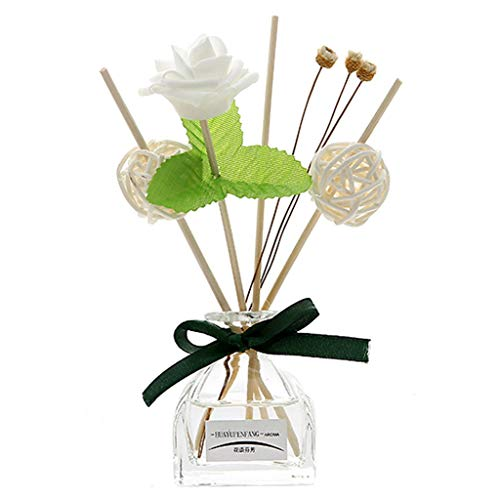 TAOtTAO Aromatherapie-Diffusor No Fire Aromatherapie-Set mit ätherischen Ölen Weiße Jurte enthält natürliche Stifte, Glasflaschen und 50 ml Sesamöl -