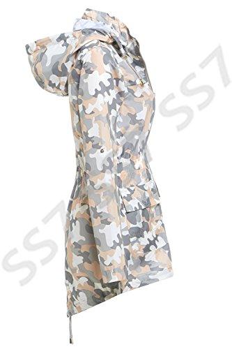 SS7 Femmes Veste de pluie, Grandes Tailles 18 pour 24 Gris / Pêche