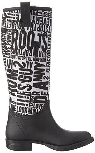 Desigual Kartel Rainboot, Stivali di Gomma Donna Nero