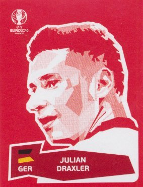 Panini UEFA EURO 2016 France - Julian Draxler (Coca Cola Sticker)