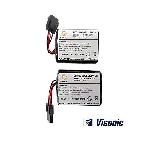Visonic Powermax - Batteria per sirena MCS-740, confezione da 2
