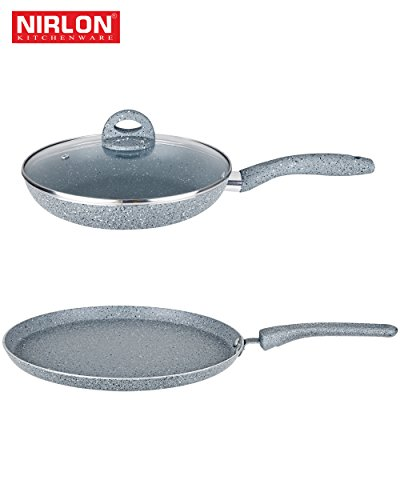 Granite non stick cookware Induction Friendly granite tawa 28cm Granite Fry Pan 1.5 liter  available at amazon for Rs.1376