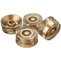 Kglobal 4pcs perillas de control de volumen del tono de oro velocidad Para Gibson Les Paul